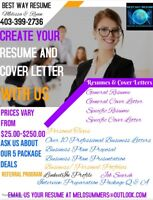 Professional Resume, Cover Letter and Writing Services