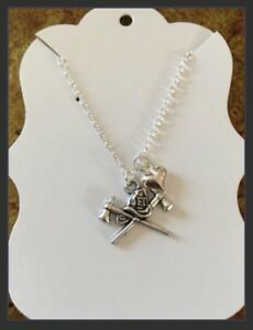 New firefighter ladies silver necklace