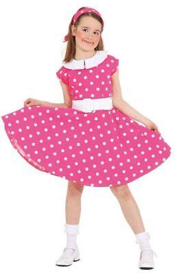 50er Jahre Kinder Kostüm Rock'n'Roll in pink-weiß Karneval - Kinder 50er Jahre Kostüm