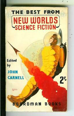 THE BEST FROM NEW WORLDS by Carbell British Boardman #163 sci-fi pulp vinatge