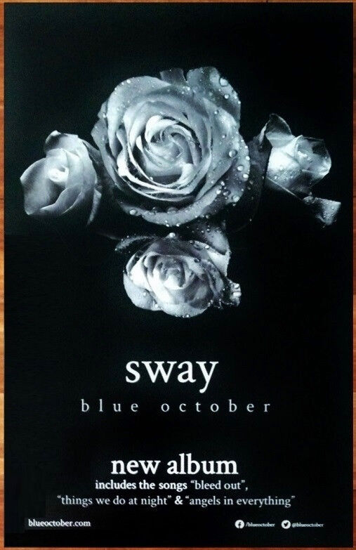 BLUE OCTOBER Sway Ltd Ed RARE New Tour Poster +BONUS Alt Rock Punk Poster!