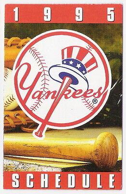 1995 New York Yankees Mlb Pocket Schedule  Bud Ice Sponsor   Free Shipping
