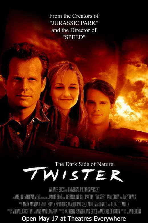 TWISTER Movie POSTER 27x40 C Bill Paxton Helen Hunt Cary Elwes Jami Gertz Alan