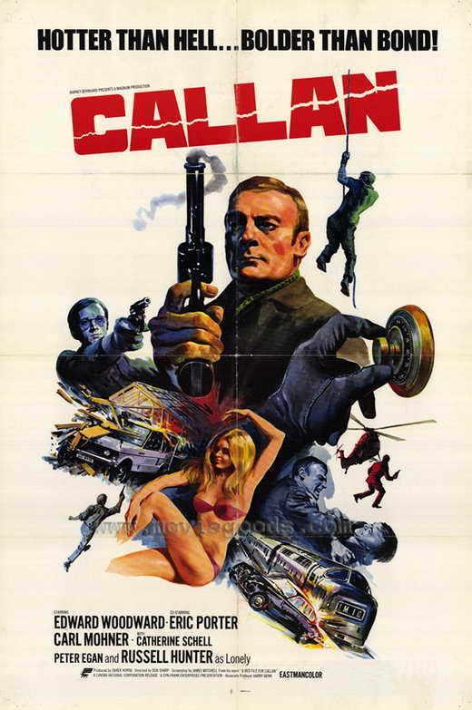 CALLAN Movie POSTER 27x40 Edward Woodward Eric Porter Carl M hner Catherine