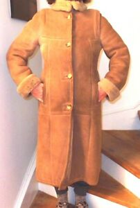 Sheep Skin Coat Woman's Full length sz 9/10