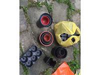 Free different plastic plant pots