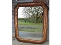 Large decorative wooden gilt mirror