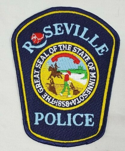 ROSEVILLE MINNESOTA MN POLICE SHOULDER PATCH *GREAT SEAL OF THE STATE 1858*