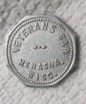 Veterans Trading Company (MENASHA WISC WI WISCONSIN ~ VETERANS BAR ~ GF 10 TRADE TOKEN ~ WINNEBAGO)