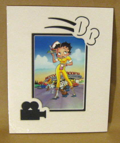 """BETTY BOOP CARHOP PICTURE W/ Pudgy Rollerskates Diner 8""""x10"""" Matted Die-Cut Art"""