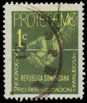 "DOMINICAN REPUBLIC RA41 - Rehabilitation of Handicapped ""Postal Tax"" (pf2659)"