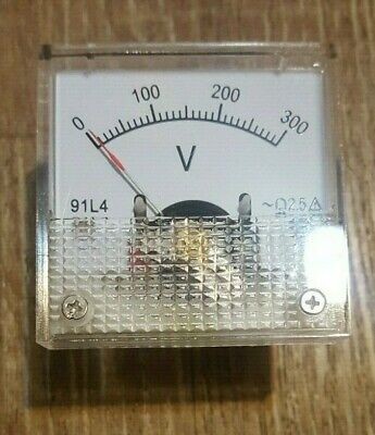 Analog Volt Panel Meter Gauge Ac 0300v Generator Us Stock