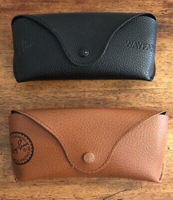 Vintage Ray Ban Wayfarer Black Faux Leather CASES (Imitation Ray Ban Wayfarer)