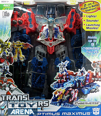 Transformers Prime Rid Cyberverse Optimus Maximus Battle Station Carrier Hasbro