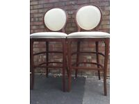 Pair of French style oval spoon back high chair