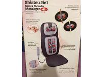 HoMedics Shiatsu 2in1 Back & Shoulder Massager with Heat SBM-500H-3GB