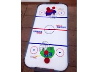 Boys air hockey table