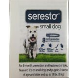 Seresto Dog Flea Tick 7-8 Month Collar for Small Dogs up to 18 lbs By Bayer
