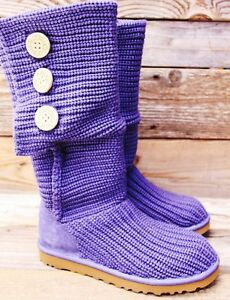 Purple Knitted Uggs