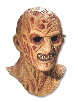 Freddy Krueger Licensed Deluxe Overhead Latex Mask Adult costume Freddy Deluxe Latex Mask