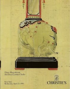 RARE-CHRISTIES-3-Magnificent-Art-Deco-Cartier-Clocks-Auction-Catalog-1990
