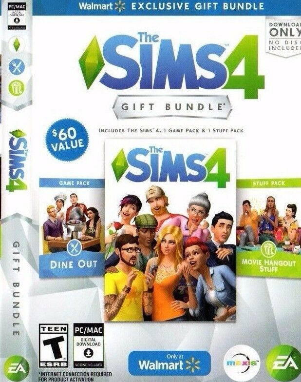 ✔sealed The Sims 4 Game + Dine Out & Movie Hangout Stuff ...