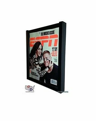 Espn Magazine Display Case Frame Uv Protecting By Gameday Display