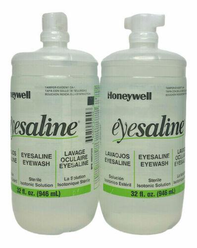 2/PK Honeywell Emergency Eyewash Eyesaline Station Refill, 32 oz, Exp. 2024