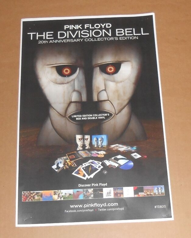 Pink Floyd The Division Bell 20th Anniversary 2014 Promo Poster 11x17