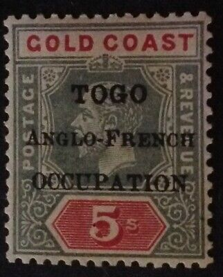 Togo 1916 5 shilling stamp With Anglo - French Occupation ovpt - mint hinged