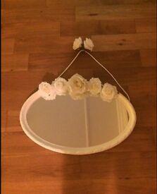 White flower mirror