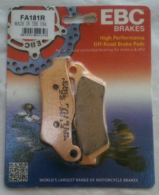 "KTM EXC 450 / Six Days (2003 to 2015) EBC ""R"" Sintered FRONT Brake Pads (FA181R)"
