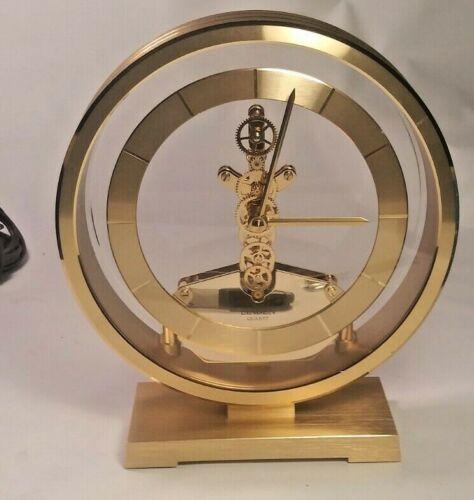 Linden Brass Quartz Desk Clock (C)