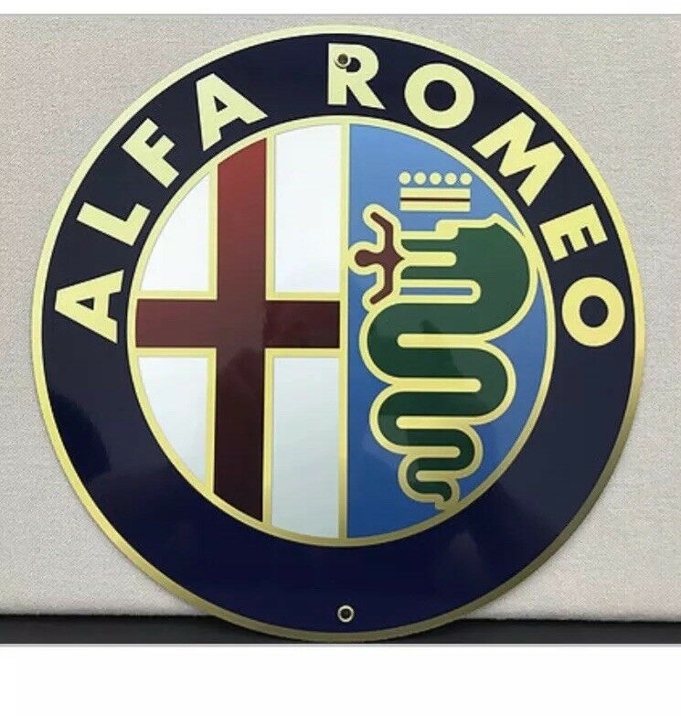 ALfa Romeo Italian Retro Style Reproduction Garage Sign