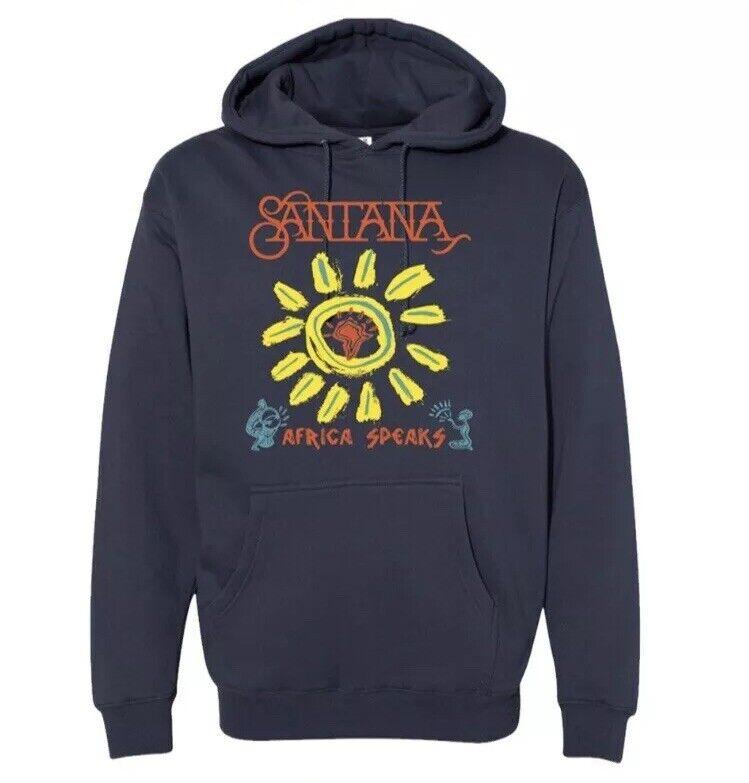 """Carlos Santana """"Africa Speaks"""" Hoodie Sweatshirt - Size XL - New!"""