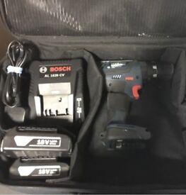 Bosch gsb 18v 2 batteries combo drill hammer