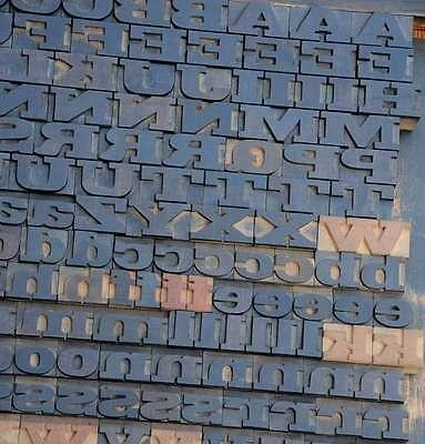 Letterpress Wood Printing Blocks 202pcs 1.06 Tall Wooden Type Woodtype Alphabet