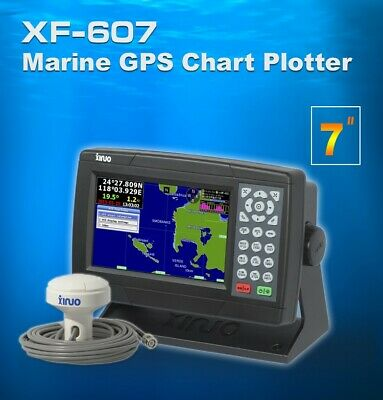 "Marine GPS Chartplotter 7"" UK / Western Europe Charts NMEA0183 IN OUT Interface"
