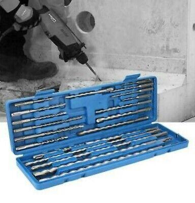 20 Pc Sds Plus Rotary Hammer Drill Bits Set Fit Hilti Bosch Dewalt Milwaukee