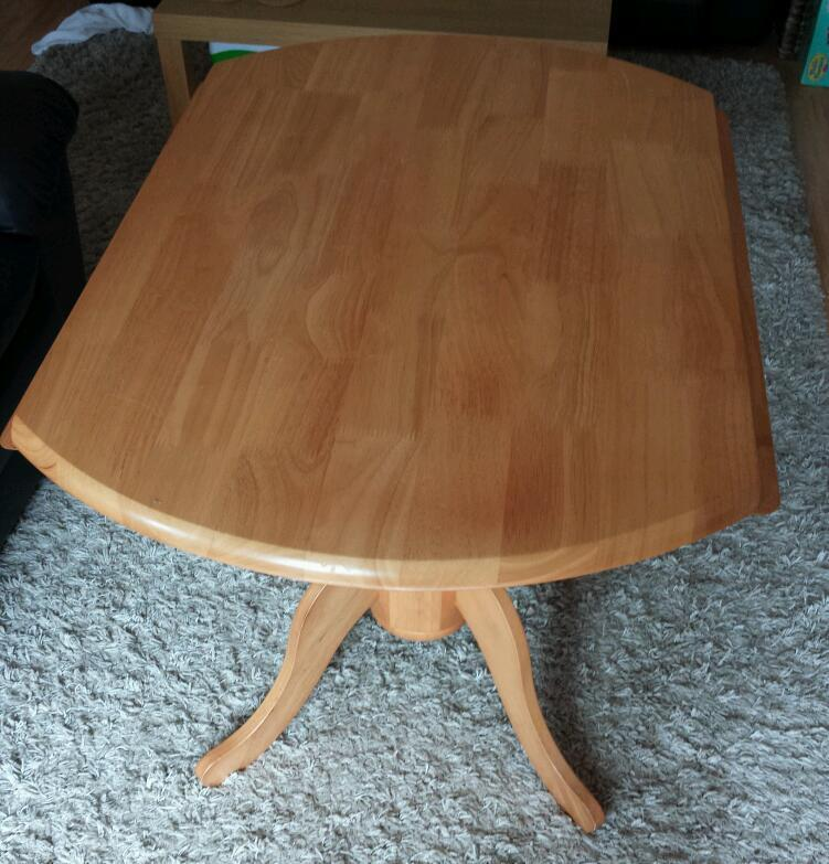 Round Pine Table with folding sides in Poole Dorset  : 86 from www.gumtree.com size 751 x 783 jpeg 83kB