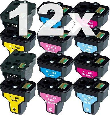 12x XL PATRONE  für HP-363 C6150 C6180 D6160 C6280 C7250 D7160 D7260 D7360 D7460 (Hp 6180 Drucker)