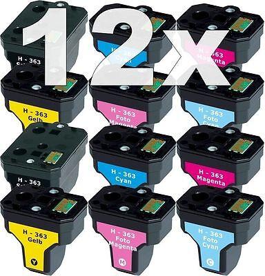 12x XL PATRONEN für HP363 C6150 C6180 D6160 C6280 C7250 D7160 D7260 D7360 D7460 (Hp 6180 Drucker)