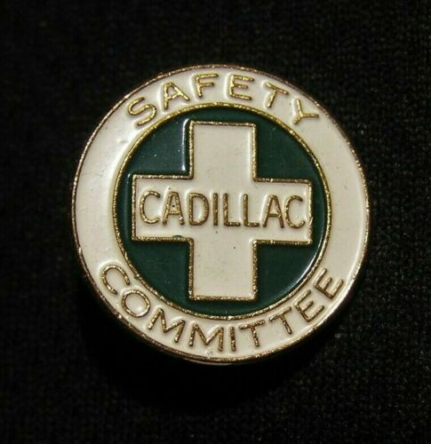 VINTAGE CADILLAC SAFETY COMMITTEE PIN - WHITEHEAD & HOAG - GM Auto Automobile