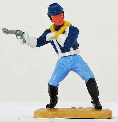 Timpo Toys Last Series 7th Cavalry White Gloves Wounded Pose Soldier Kepi Hat