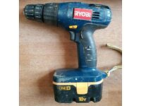 Ryobi 18v drill in good working order with One + battery