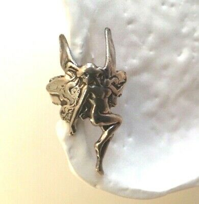 New Vintage 925 Sterling Silver Fairy Goddess Ear Cuff ()