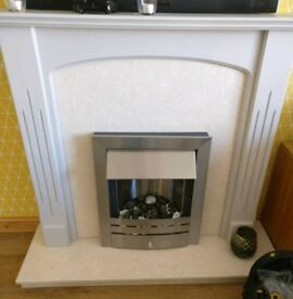 Marble fireplace and fire excellent condition