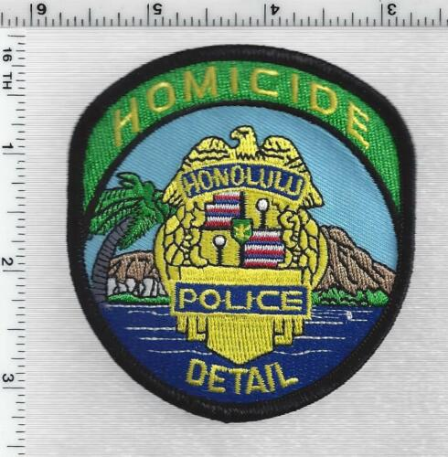 Honolulu Police Homicide Detail (Hawaii) 1st Issue Shoulder Patch