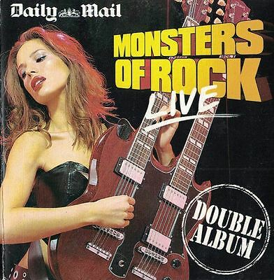 Daily Mail Monster Of Rock Live Double Album 2 Music Cd Set Newspaper Uk Promo