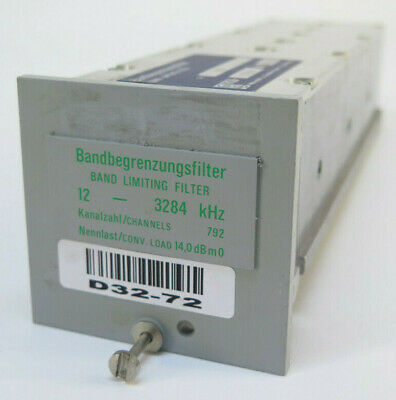 Wandel Goltermann Band Limiting Filter 12 - 3284 Khz - Rsb-123284 856450